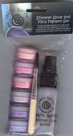 Summer Shades Cosmic Shimmer Spray and Mica Pigment Set